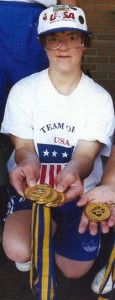 Lori with just a few of her gold medals