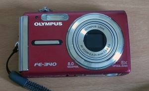 My cute little red Olympus camera