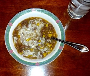 Ground Beef and Corn Chowder