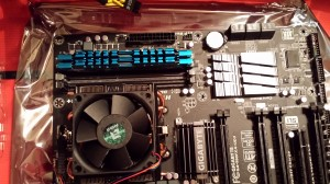 Day 321: The Motherboard (with memory sticks installed)