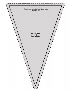 36 degree triangle template