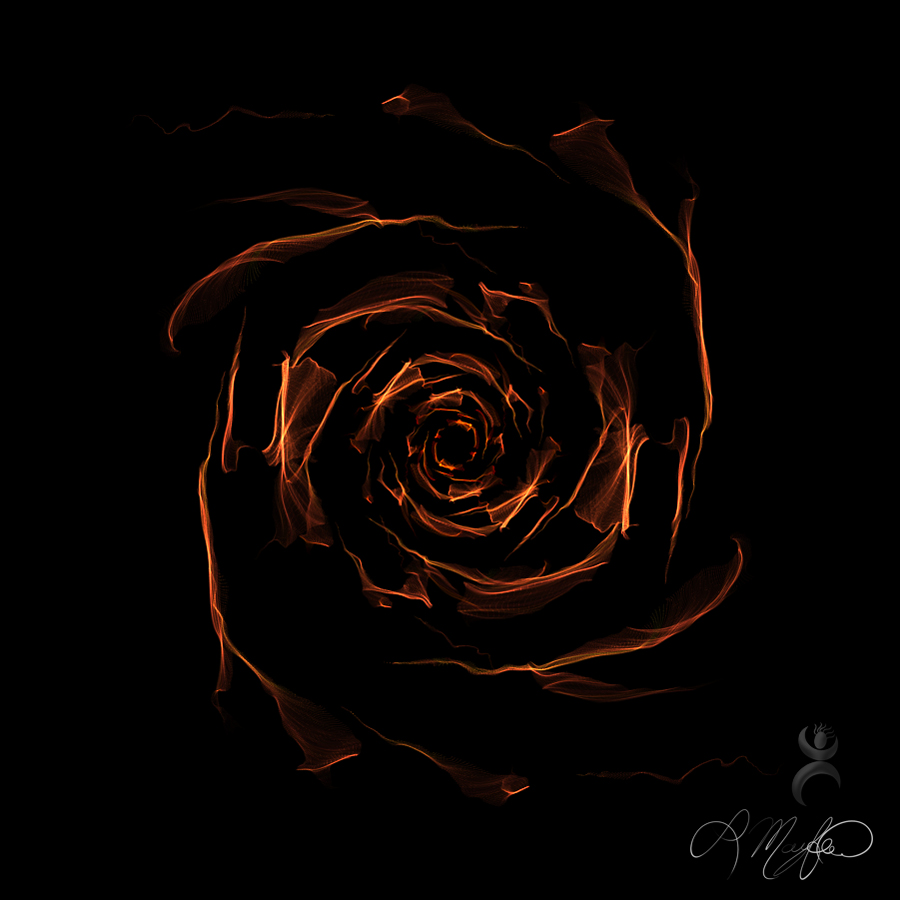 """Copper Rose"", created at weavesilk.com"