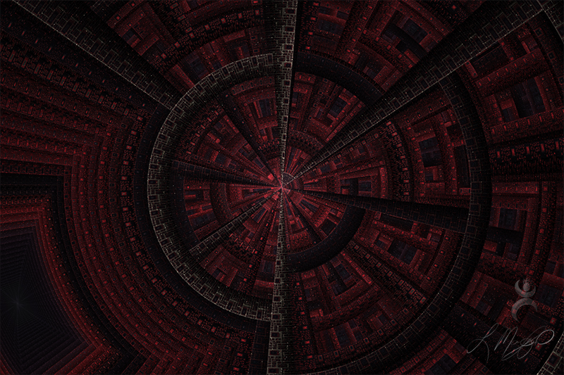 """""""Julian Disk Red and Black"""", created in Apophysis 7X"""