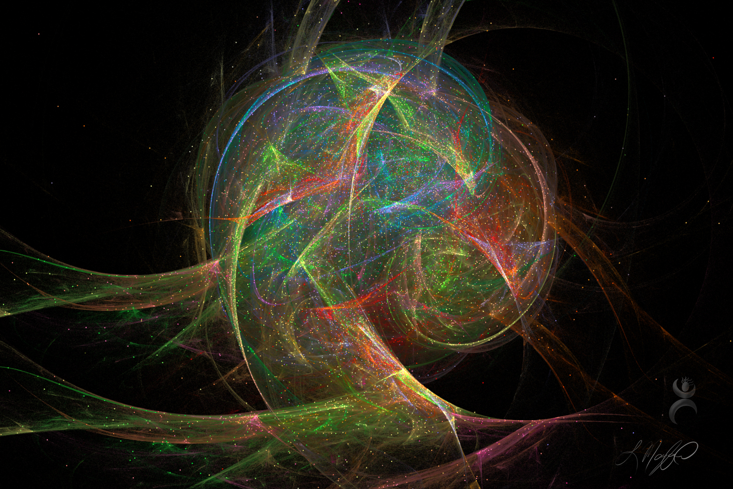 """Beautiful Chaos"", created with Apophysis 7X"