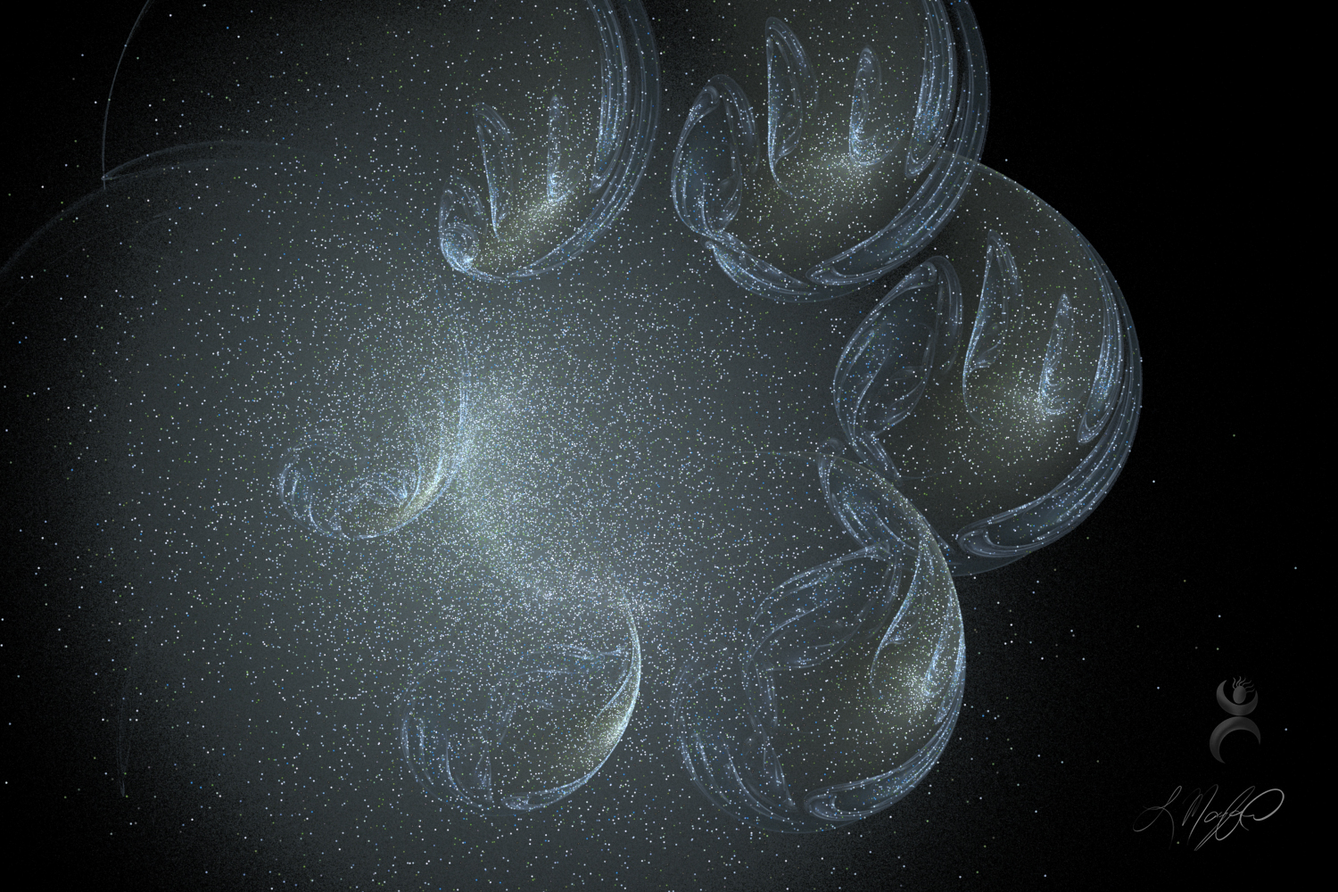 """Cosmic Embryos"", created with Apophysis 7X"