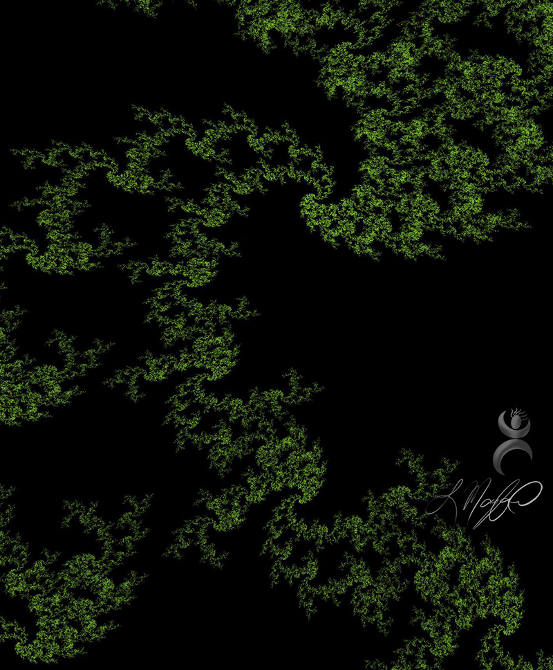 """Fractal Foliage"", created with Fractal Designer (Android app)"